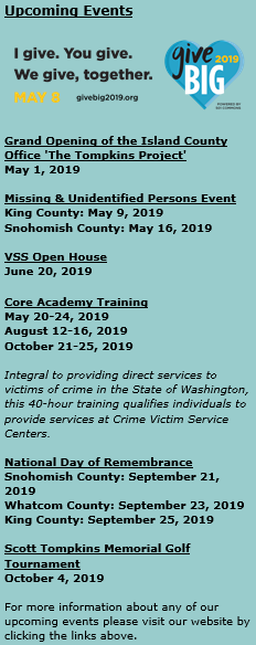 Events – Children's Council of Skagit County